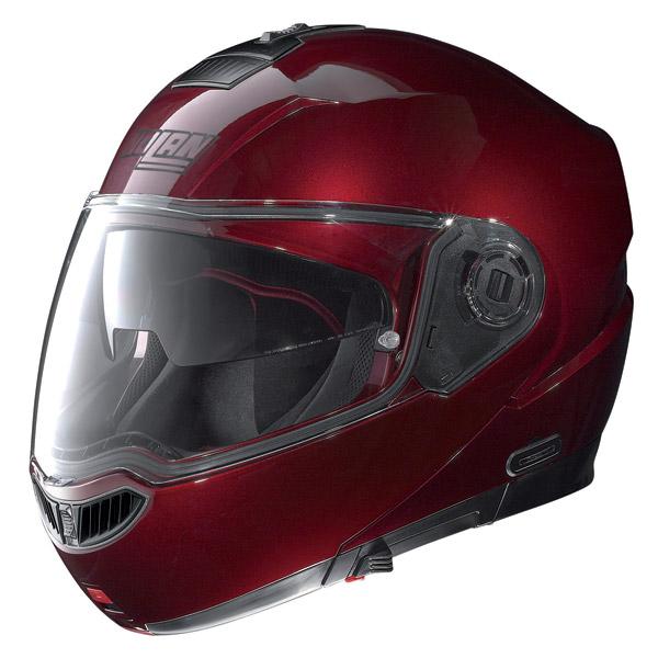 Helmet flip-up Nolan N104 Evo Classic N-Com wine cherry
