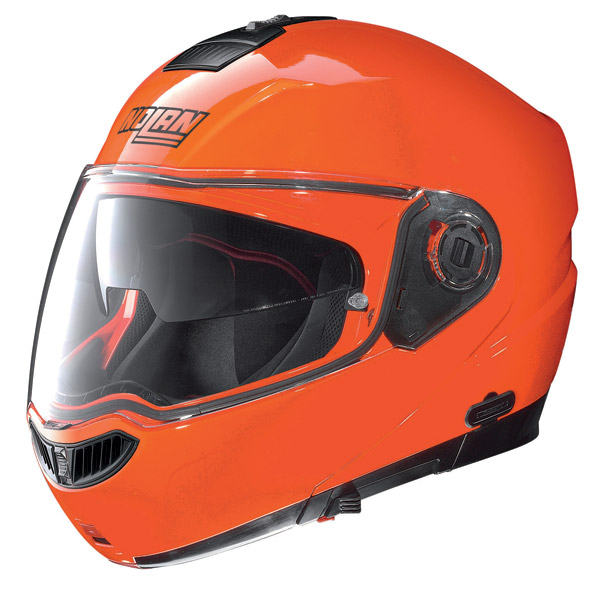 Casco modulare Nolan N104 Evo Alta Visibilità N-Com arancio fluo