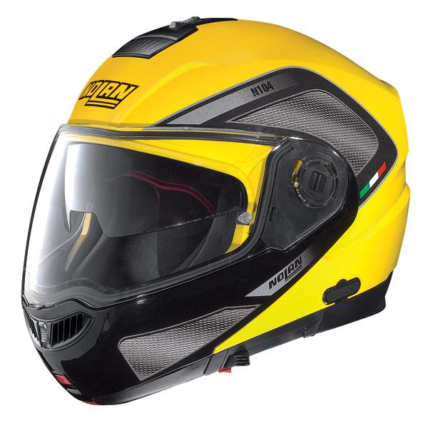 Casco moto modulare Nolan N104 Evo Tech N-Com cab yellow