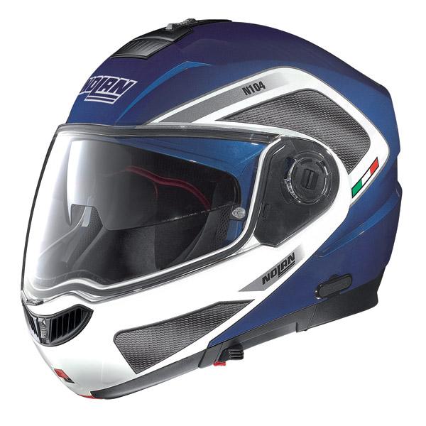 Motorcycle Helmet flip-up Nolan N104 Evo Tech N-Com cayman blue