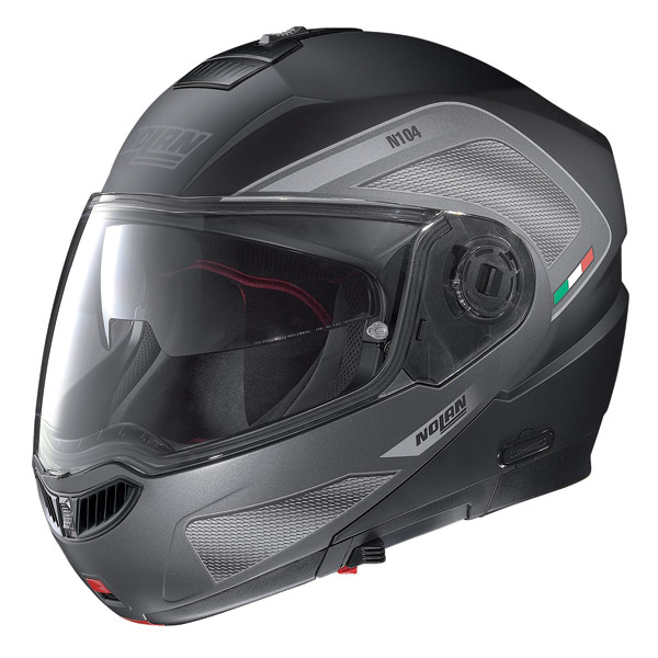 Motorcycle Helmet flip-up Nolan N104 Evo Tech N-Com matt black