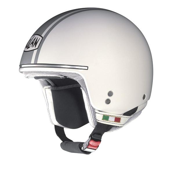 Nolan N20 Naked Caribe Plus jet helmet metal white - grey