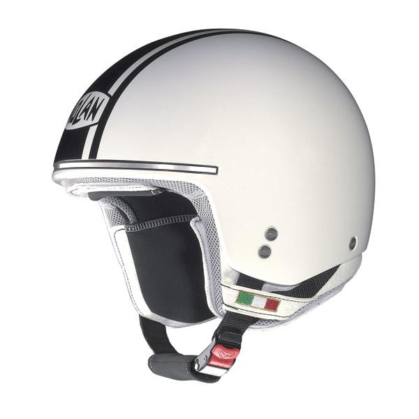 Casco moto Nolan N20 Naked Caribe Plus metal white - black