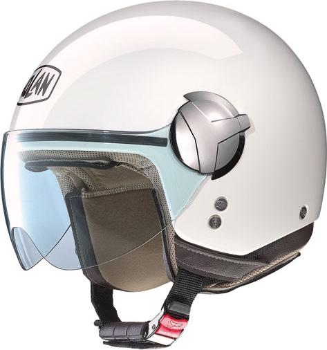 Casco moto Nolan N20 Traffic Classic bianco