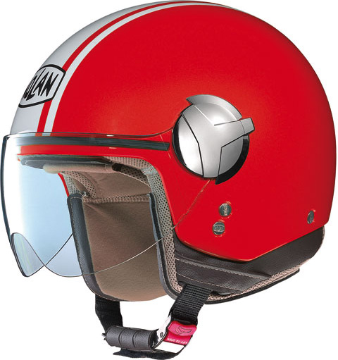 Casco moto Nolan N20 Traffic Caribe Plus rosso