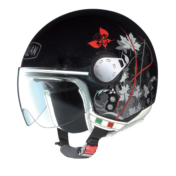 Nolan N20 Traffic Leaves Plus jet helmet metal black