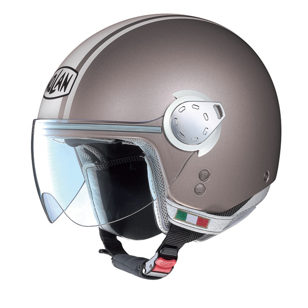 Casco moto Nolan N20 Traffic Caribe Plus pearl sand
