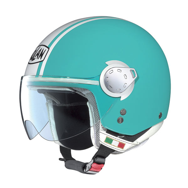 Casco moto Nolan N20 Traffic Caribe Plus Green Sea