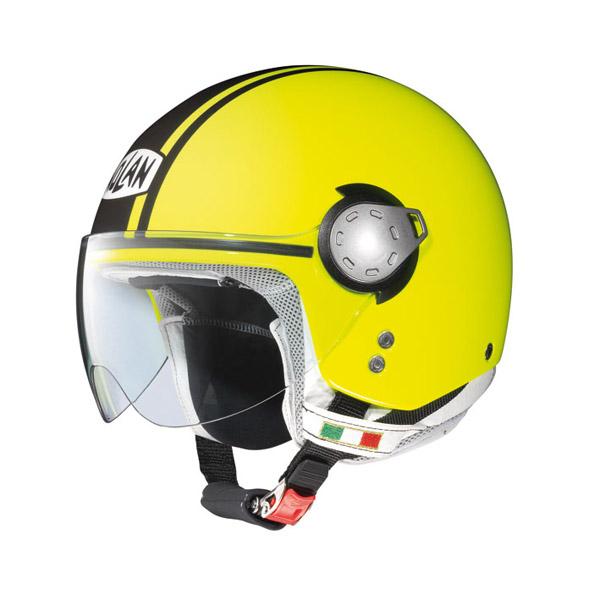 Casco moto demi-jet Nolan N20 Traffic Caribe Plus Giallo fluo