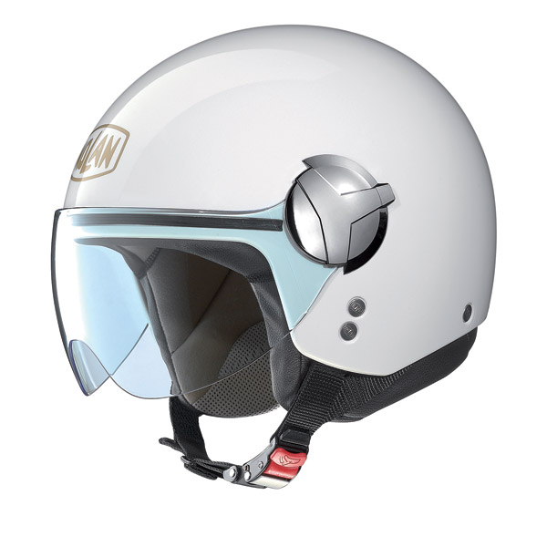 Nolan N20 Traffic 40 th Edition N-Com jet helmet pure white