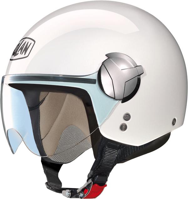 Casco moto Nolan N20 Traffic Easy bianco