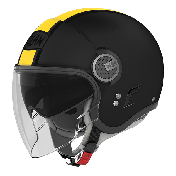 Nolan N21 Visor Duetto jet helmet Matte Black Yellow