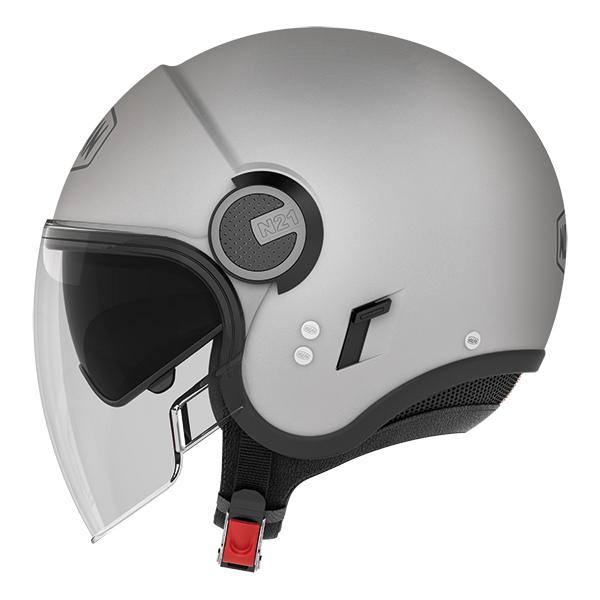 Nolan N21 Visor Duetto jet helmet White Blue