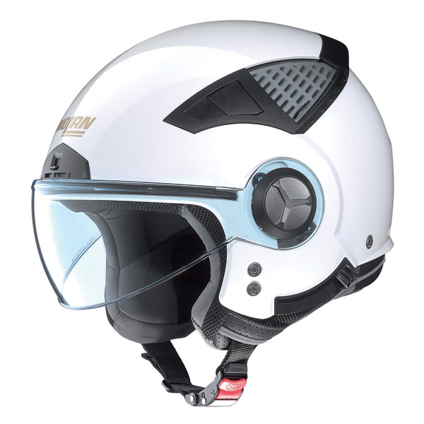 Nolan N33 40 th Edition N-Com jet helmet pure white