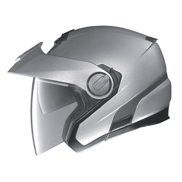 Motorcycle Helmet Jet Nolan N40 N-Com Classic Platinum Silver
