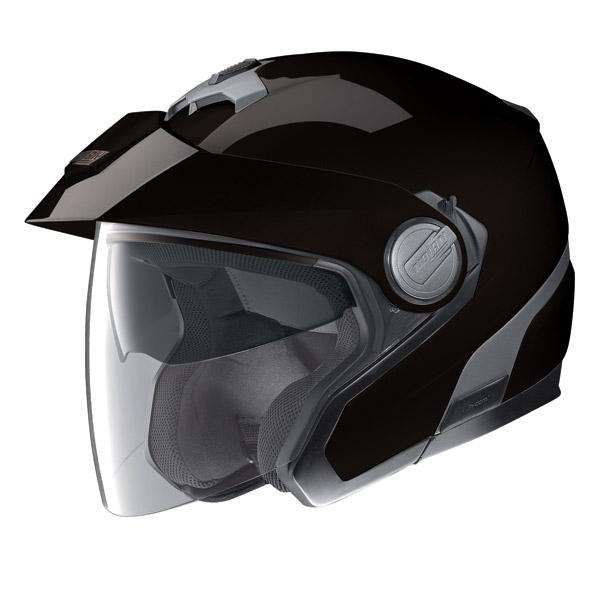 Motorcycle Helmet Jet Nolan N40 N-Com Classic Plus Glossy Black
