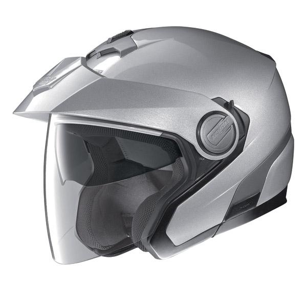 Casco moto Jet Nolan N40 N-Com Classic Plus Platinum Silver