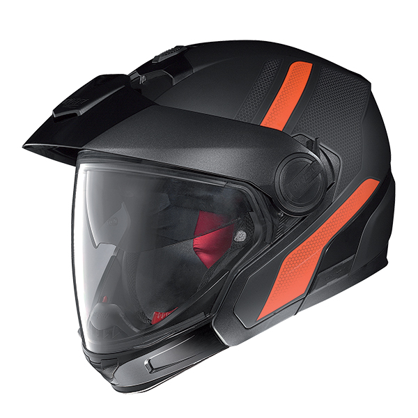 Nolan N40Full Adventy Plus N-Com flip off helmet Black Orange