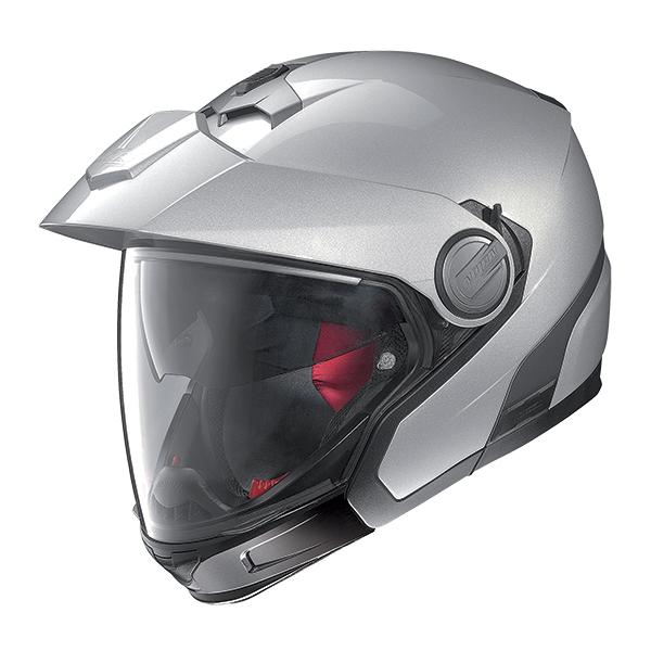 Nolan N40Full Classic Plus N-Com flip off helmet Silver