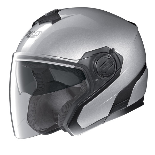 Casco moto jet Nolan N40 N-Com Special Salt Silver