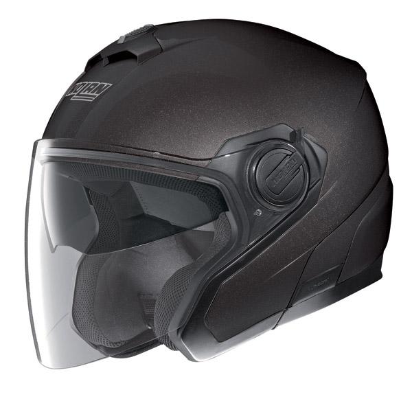 Motorcycle Helmet jet Nolan N40 N-Com Special Black Graphite