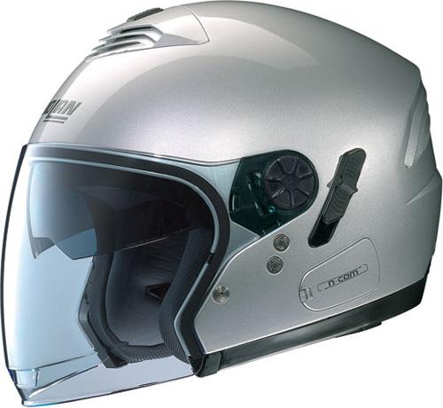 NOLAN N43 Classic N-com jet helmet col. platinum silver