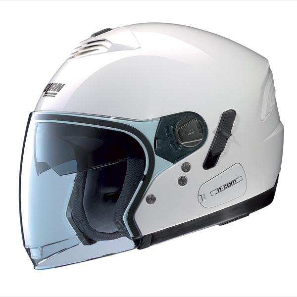 Casco moto Nolan N43E Classic N-Com bianco metal