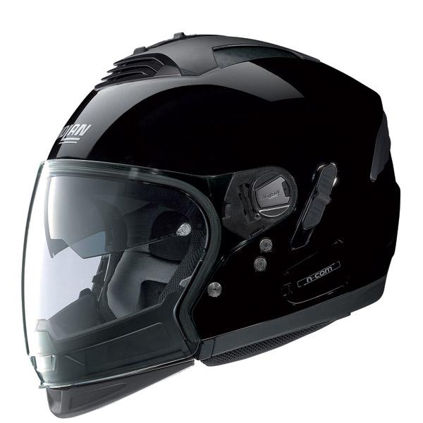 Casco moto Nolan N43E Air Classic N-com glossy black omol P-J
