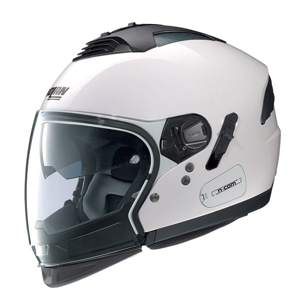 Nolan N43E Air Classic N-com metal white crossover helmet