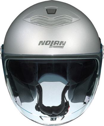 NOLAN N43 Classic N-com jet helmet col. metal white