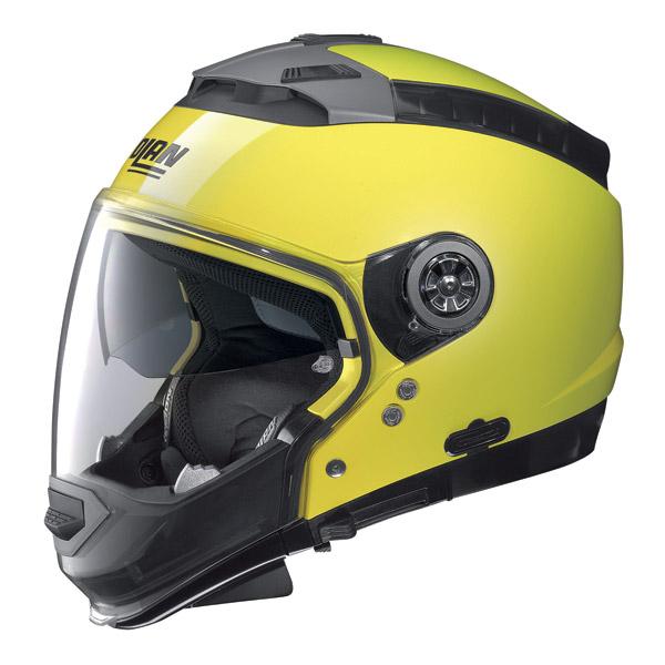Casco moto Nolan N44 Hi-Visibility N-Com giallo fluo omol. P-J