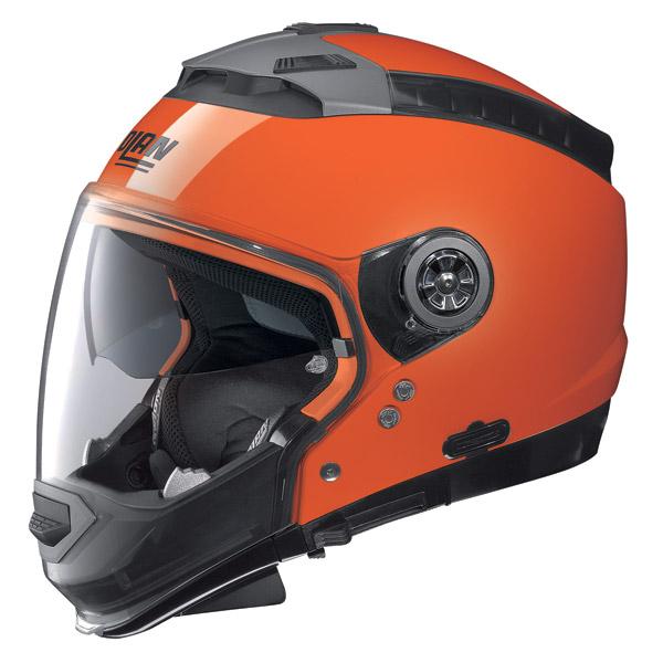 Casco moto Nolan N44 Hi-Visibility N-Com arancio fluo omol. P-J