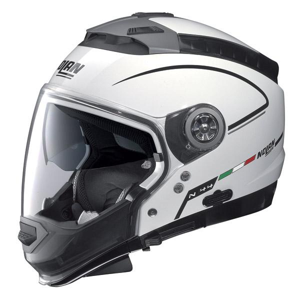 Casco moto Nolan N44 Storm N-Com metal white omol. P-J