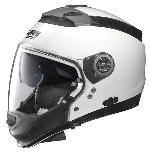 Casco moto Nolan N44 Classic N-com metal white omol. P-J
