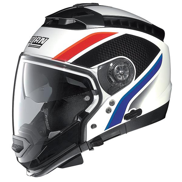 Nolan N44 Shiver N-Com flip off helmet Black Orange