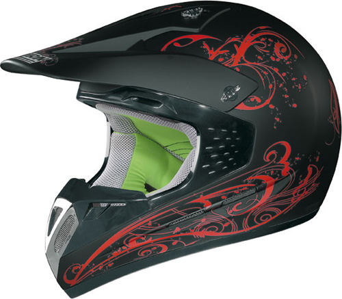 NOLAN N52 Aladdin off-road col. black-red