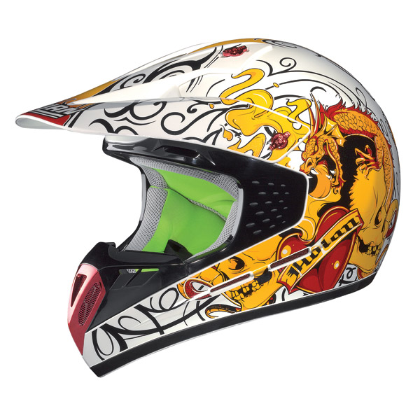 Nolan N52 Dragon enduro helmet metal white