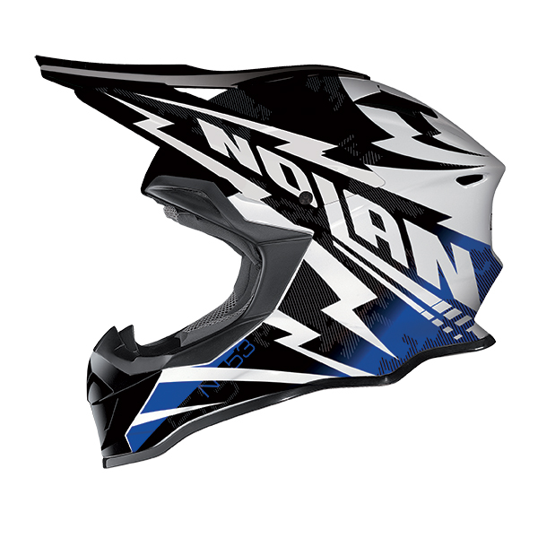 Nolan N53 Comp cross helmet White Black Blue