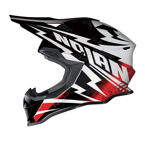 Nolan N53 Comp cross helmet Black White Red