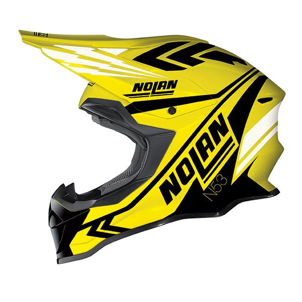 Nolan N53 Logic cross helmet Yellow Black