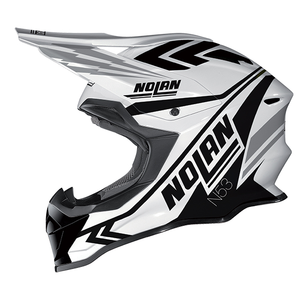 Nolan N53 Logic cross helmet White Black
