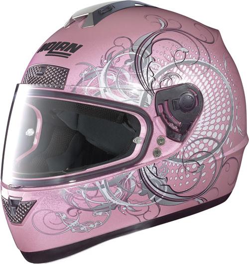 Casco moto integrale Nolan N63 Wing pearl pink