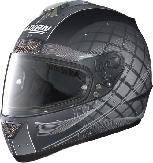 Casco moto integrale Nolan N63 Link nero opaco