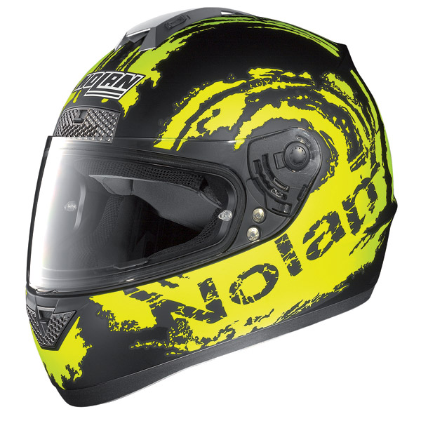 Nolan N63 Sketch full-face helmet flat black-yellow