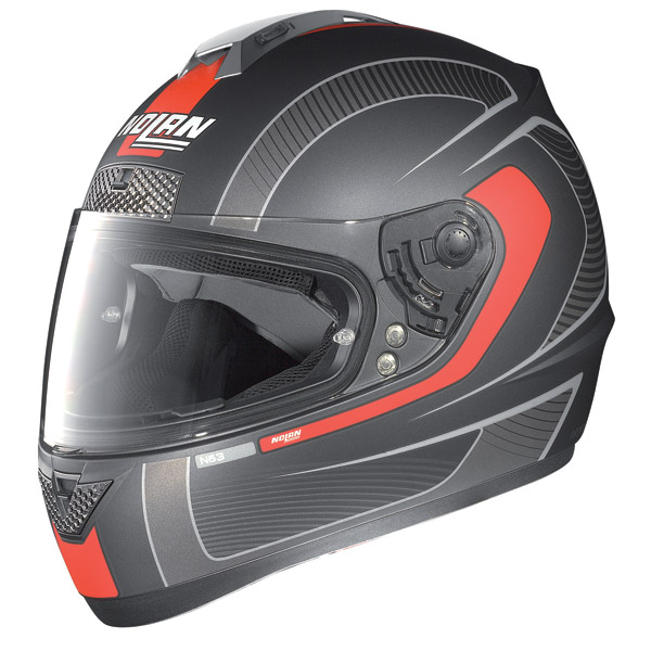 Nolan N63 Strain full-face helmet flat lava grey -red