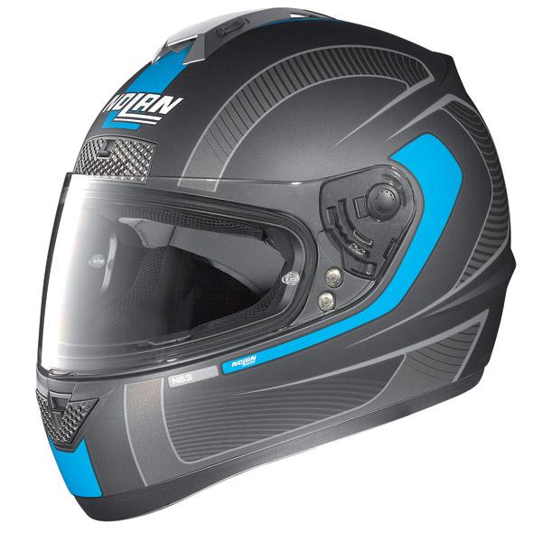 Nolan N63 Strain full-face helmet flat lava grey - blue