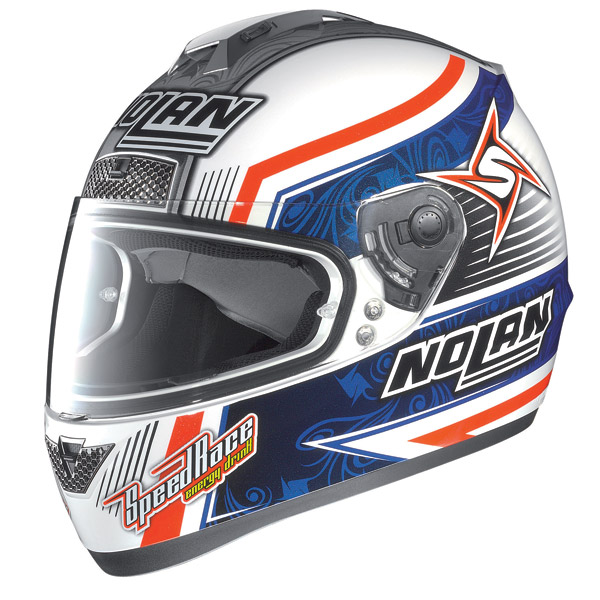 Nolan N63 Gemini Replica Melandri N-Com metal white 60 helmet