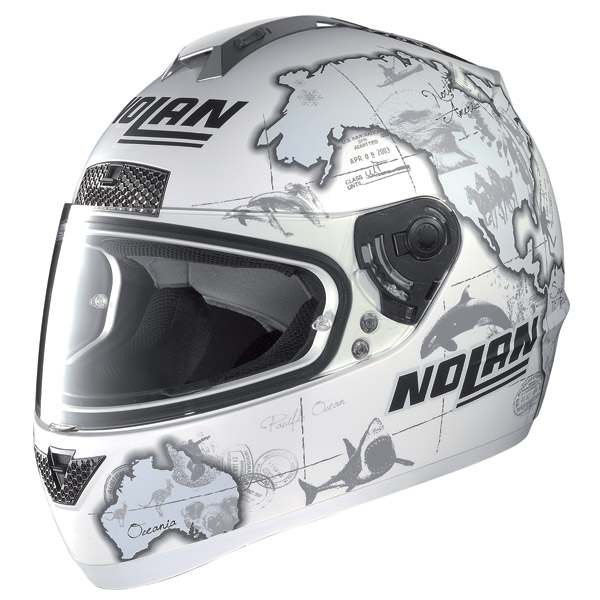 Casco moto Nolan N63 Gemini Replica C.Checa flat white