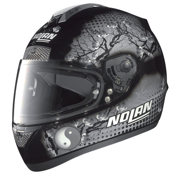Nolan N63 Flowers full-face helmet metal black grey