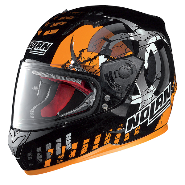 Nolan N64 Enerwin full face helmet Matte Black Orange